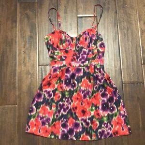 Bebe floral dress size XS